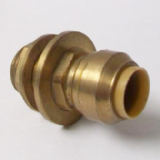 Brass Push Fit 15mm x 1/2 inch Tank Connector - 27051500